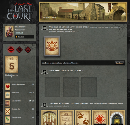 Last Court Gameplay screen