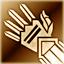Средние перчатки (золотые)