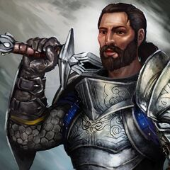 Artwork of Duncan in <i>Heroes of Dragon Age</i>