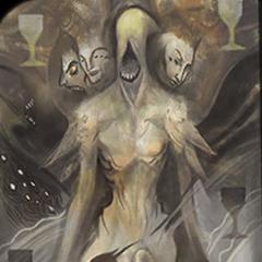 Tarotkarte des Dämons des Schreckens