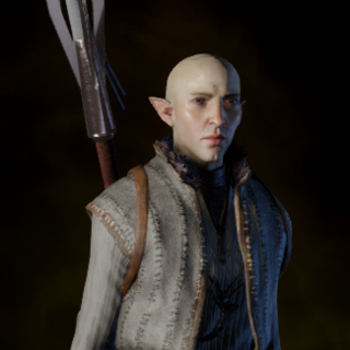 Solas wearing a crafted Apprentice Coat