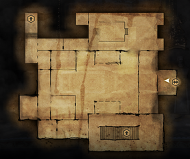 Chateau d'Onterre Lower Level Map