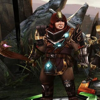 In-game image of Sandal in <i>Heroes of Dragon Age</i>
