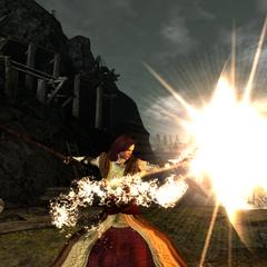 Summoning Fireball