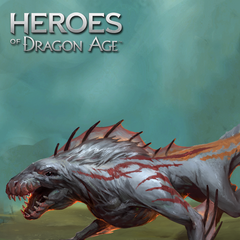 Ein schneeweißer Wyvern in Heroes of Dragon Age