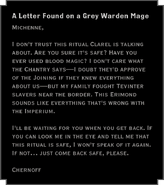 A Letter Found on a Grey Warden Mage