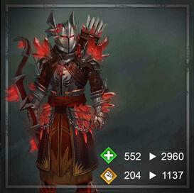 Красный храмовник-лучник Hoda