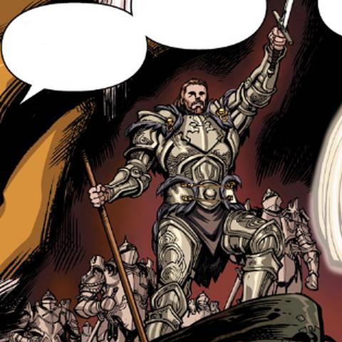 Calenhad führt seine Armee in die Schlacht