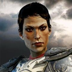 Cassandra's profile on the official <i>Dragon Age: Inquisition</i> website