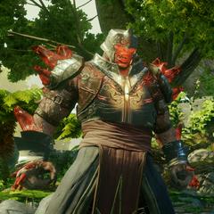 Ein Ritter der Roten Templer