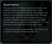 Ruined Highway Landmark Text