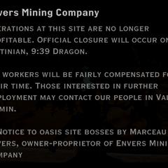 Envers Mining Company landmark detail