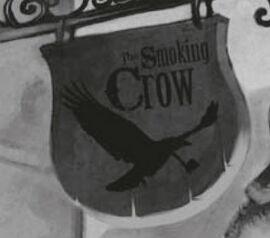 Вывеска таверны Курящая ворона