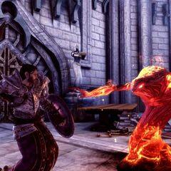 Templer bekämpft Dämon
