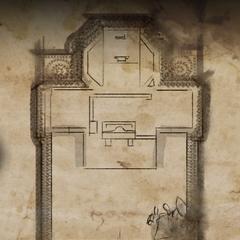 Map of the hidden ruin