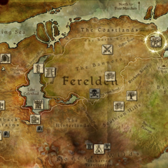 Geografische Lage Denerims in Ferelden