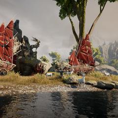 Das Lager der Dalish am Fluss