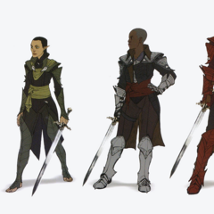 Female Inquisitor concepts in preferred armor styles by race