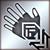 Легкие перчатки серебряный
