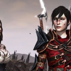 Female Hawke and Bethany