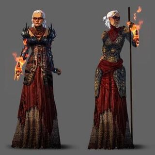 Initial concept art for Flemeth in <i>Dragon Age: Origins</i>