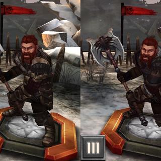 Tier progression of Oghren in <i><a href=