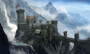 Концепт-арт горной крепости