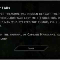 Silver Falls Landmark Text