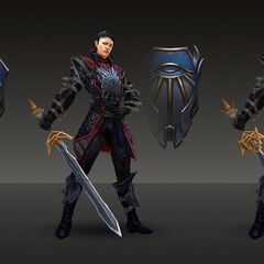 Artwork of Lady Seeker Cassandra's tier progression in <i>Heroes of Dragon Age</i>
