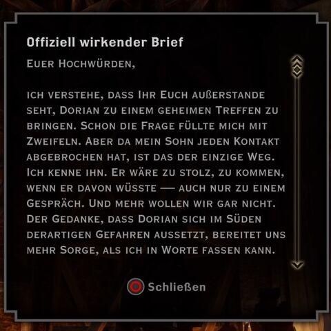 Brief von <a href=