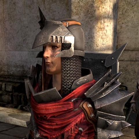 The helmet in profile