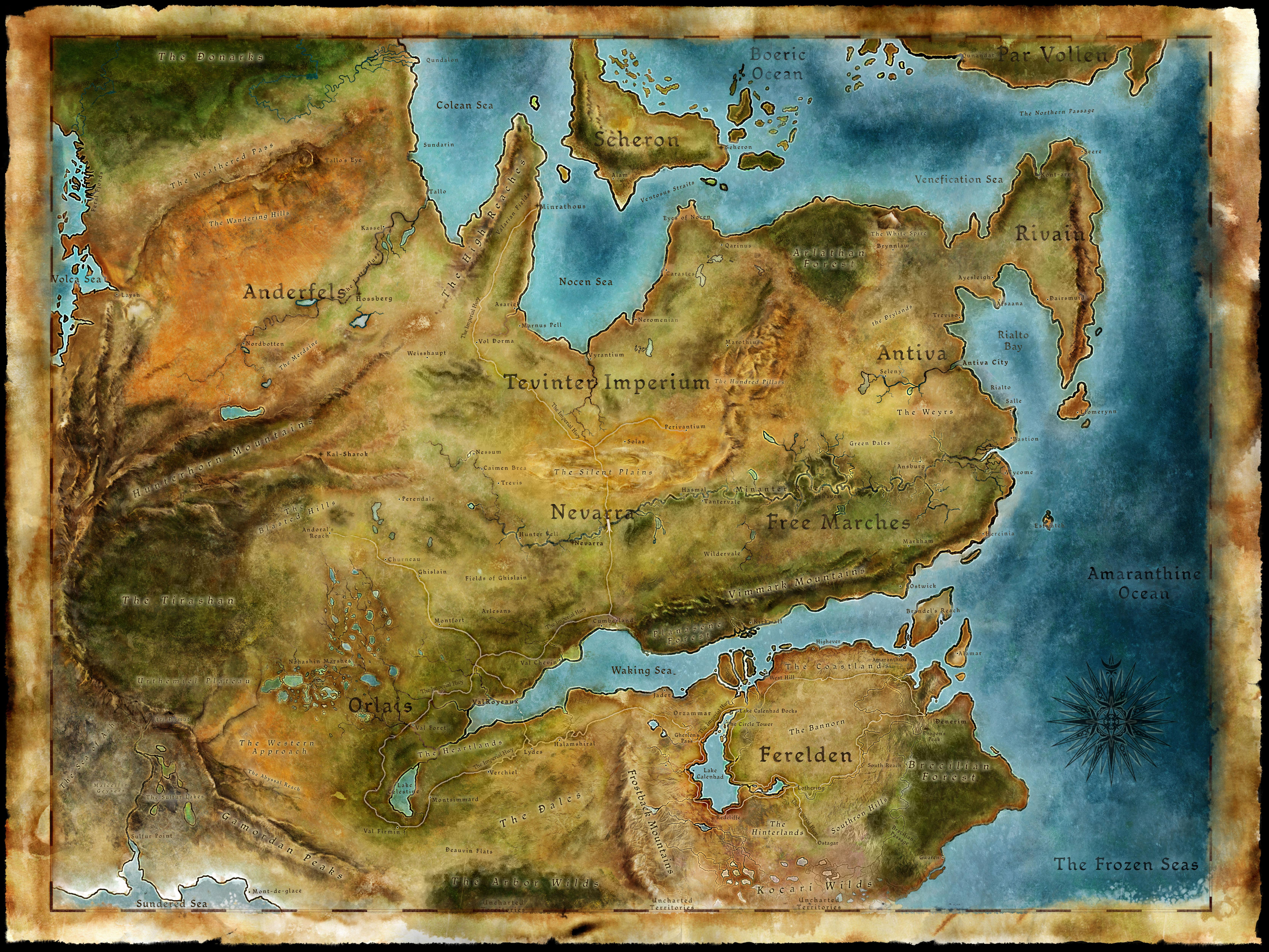 Map Of Thedas Amazing Map Of Thedas Pics   Printable Map   New   bartosandrini.com Map Of Thedas