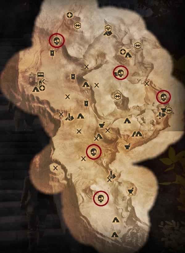 Scherben in den Graten - Karte
