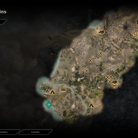 The location of the spot in the map.