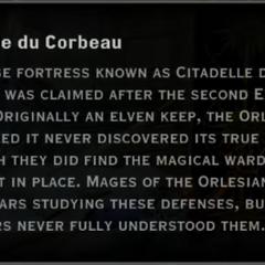 Citadelle du Corbeau Landmark Text