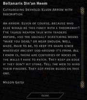 Bellanaris Din'an Heem (Skyhold)