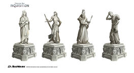 Inquisition Chantry sculptures concept 2
