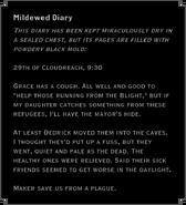 Mildewed Diary