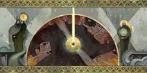 Mural - śmierć tytana