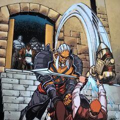 Sten kämpft gegen Alistair