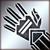 Средние перчатки (серебряные)