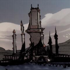 Der Turm in einem Comic