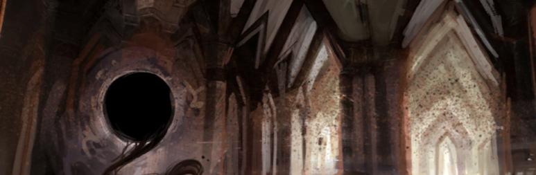 Ein seltsamer Riss in den Ruinen - Font