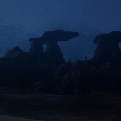 Silhouette der Berge