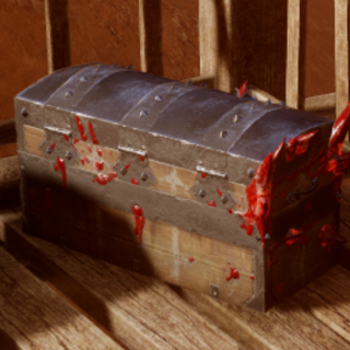 Red Lyrium corroding a Lyrium Storage Chest