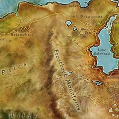 Karte des Gebirges