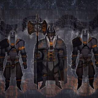 Qunari (in-game cutscene art, <i><a href=