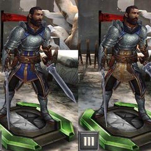 Duncan jako komendant Szarej Straży w <i>Heroes of Dragon Age</i>