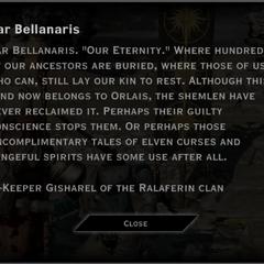 Var Bellanaris Landmark Text