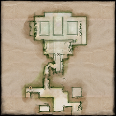 Lower Crypts—Elandrin's Tomb Map